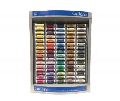 Mueble De Hilo Cadena 80 Colores Por 400 Bobinas