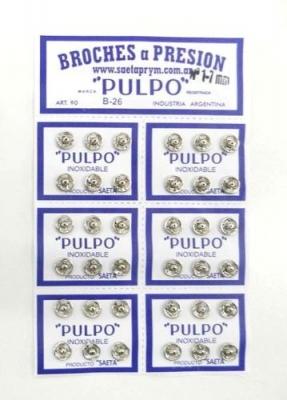 Broche PresiÓn Pulpo Nº 1 Blanco Por 144 Unidades