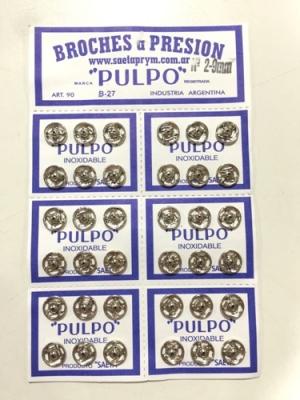 Broche PresiÓn Pulpo Nº 2 Blanco Por 144 Unidades