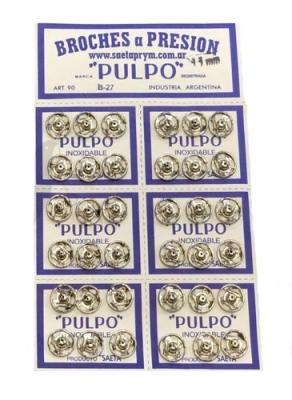 Broche PresiÓn Pulpo Nº 3 Blanco Por 144 Unidades