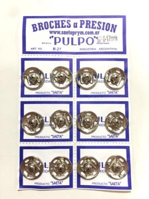 Broche PresiÓn Pulpo Nº 6 Blanco Por 12 Unidades