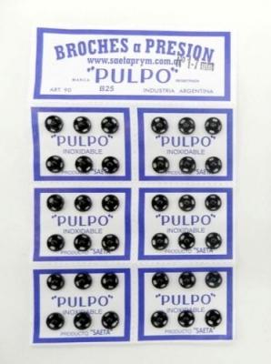Broche PresiÓn Pulpo Nº 1 Negro Por 144 Unidades