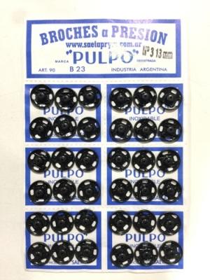 Broche PresiÓn Pulpo Nº 3 Negro Por 144 Unidades