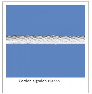 CordÓn De AlgodÓn Art. 18 Blanco Por 100 Mts.