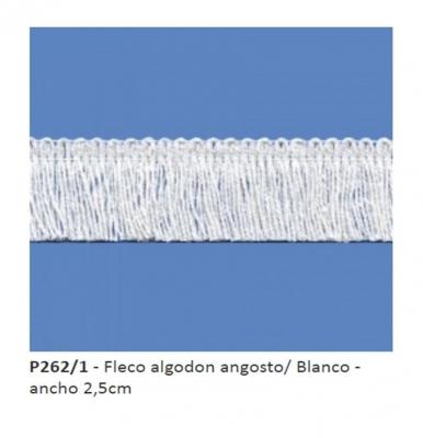 Fleco De AlgodÓn Art. P262 Blanco Por 10 Mts.