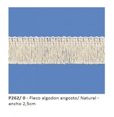 Fleco De AlgodÓn Art. P262 Crudo Por 10 Mts.