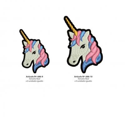 Aplicaciones Art. 686/10 Unicornio Por 4 Unidades Iguales