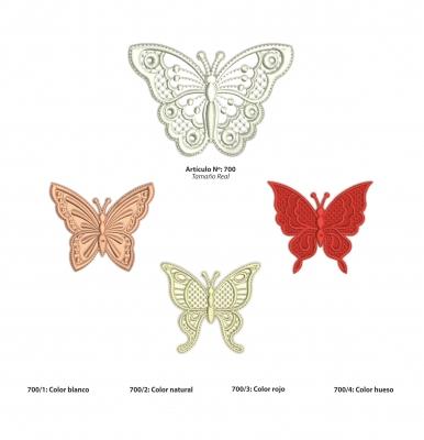 Aplicaciones Art. 700 Mariposa Por 4 Unidades Iguales