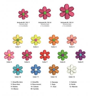 Aplicaciones Art. 701/7 Flores Por 12 Unidades