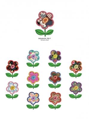 Aplicaciones Art. 703/7 Flores Por 6 Unidades