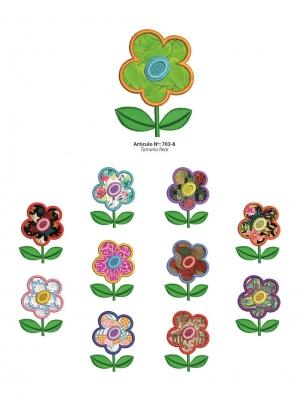 Aplicaciones Art. 703/8 Flores Por 6 Unidades
