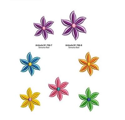 Aplicaciones Art. 706/7 Flores Por 6 Unidades
