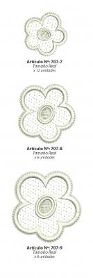 Aplicaciones Art. 707/7 Flores Por 12 Unidades Iguales
