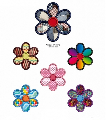 Aplicaciones Art. 727/9 Flores Por 4 Unidades