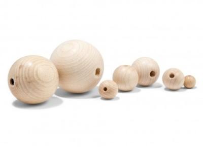 Esferas De Madera 12 / 14 Mm. Por 50 Unidades